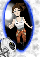 Portal 2 - Good bye Wheatley by PixelPrinzessin