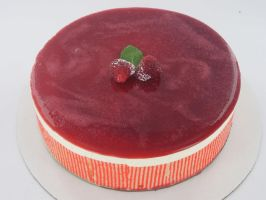 White Chocolate Mousse Cake by Jifmona