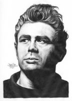 James Dean 2 graphite by Ethan-Carl
