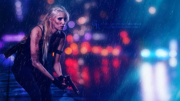 Shooting in the rain by GeneRazART