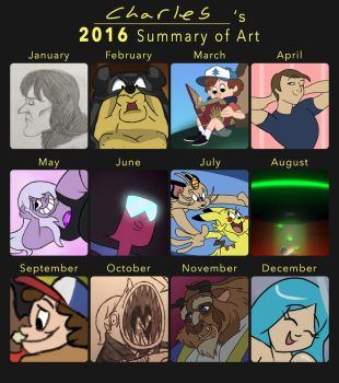 2016 Summary of Art by CartoonyStuff