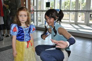 Snow White and Korra by HomieBear