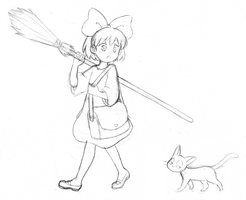Kiki sketch by CatPlus