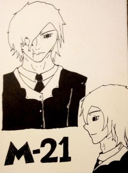 Noblesse sketches - M-21 by BloodySilverSoul