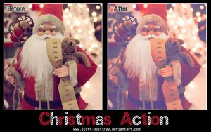 Christmas Photoshop Action by JuStt-DeStinyy