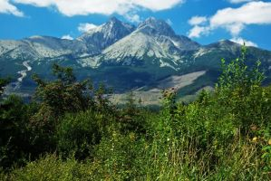 View on High Tatras peaks by minko2312