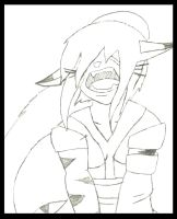 Aelita TMNT OC: The Depths of Despair Sketch by animedugan