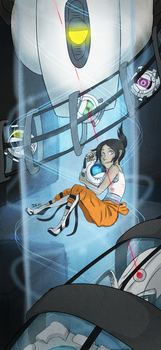 Portal 2 - 1st anniversary by Invader-Zimie
