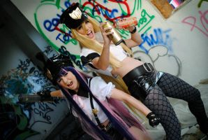Panty and Stocking inda house by Firiless