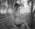 that girl with the hat. by BlackDennie
