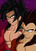 Crimson Saiyans by nekoni