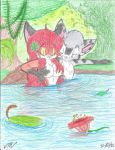 A dip in the pond COLORED by victor639514