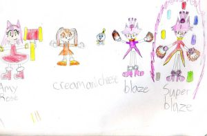 Amy, Cream, Cheese, Blaze by emerswell
