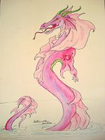 Purple Water Dragon by Sketses
