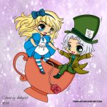 Alice And The Mad Hatter by slinkysis3