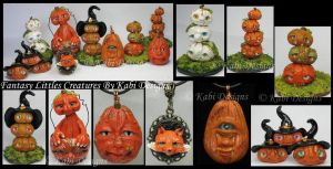 Pumpkins, Fox and More handmade Polymer Clay by KabiDesigns