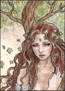 Printemps . ACEO . The season Nymphs by MargaretSeidler