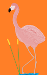 MS Paint Flamingo by WalkingDeceit