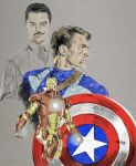 Captain and Howard iron man by workofaart