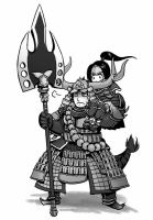 Tadakatsu and Ina by sunpurple