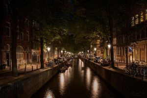 Amsterdam at night by LunaFeles