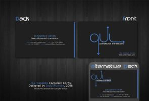 Qui-Translate Corporate Cards by furryyx
