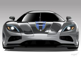 Koenigsegg Agera Vector by pencil-addict