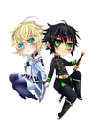 Mika and Yu by Tmis