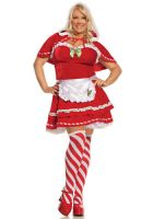 Plus Size Miss Candy Cane Christmas Costume by morseedwina