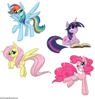 My favorite characters MLP by HoshiNoUsagi