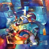 ARA abstract painting by Amytea