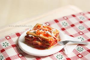 Lasagne - Miniature by thinkpastel