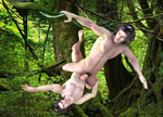 Lionel on D3 as Tarzan and Aiden on M4 13 by joekr9