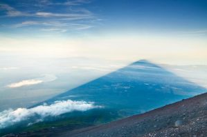 Mt. Fuji's Shadow, Yoshida Trail, Japan by andrusm