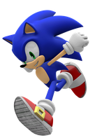 Super Smash Bros. 4 Sonic Render by nikfan01