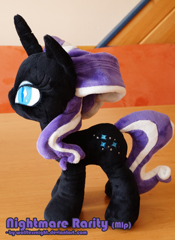 Nightmare Rarity Plush by Wolflessnight