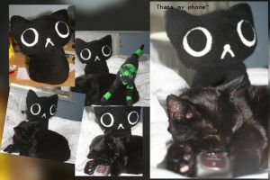 kuroneko doll :wip: (for sale when finished) by Ymia-the-cheetah