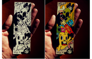 Doodle: Personalized bookmark (Colored version) by RedStar94