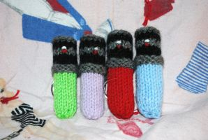 Lightsaber Chapstick Cozies by QueenNekoyasha