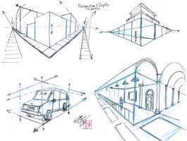 Perspective and Depth - p3 Two Point Perspective by Diana-Huang