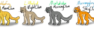 Med.cats of the new clans by safirethedragon