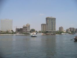 River Nile in Cairo, Egypt by Garr1971