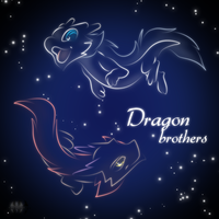 Dragon Brothers icon neon by H-brid