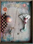Assemblage: Colorful Creepy by bugatha1
