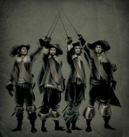 the four musketeers by ValiPetridean