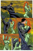 Batman Poison Ivy Comic Commish Page 2 Colors by ESO2001