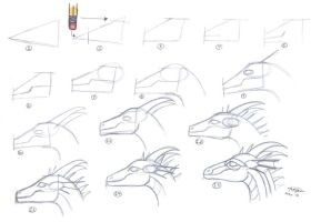Easy Dragon head tutorial 1 by who-stole-MY-name