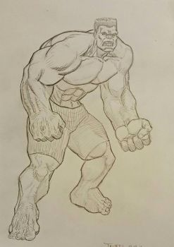 Red Hulk Pose by Phillymon75