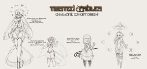 Twisted Fables: Character Set 1 by RoseGotham