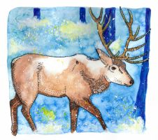 Deer by Paintwick